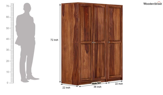 Citroen Multi Utility Wardrobe (Teak Finish)-9