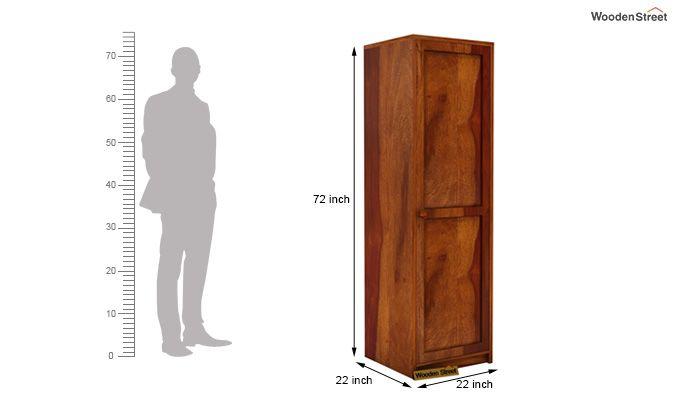 Citroen 1 Door Multi-Utility Wardrobe (Honey Finish)-4