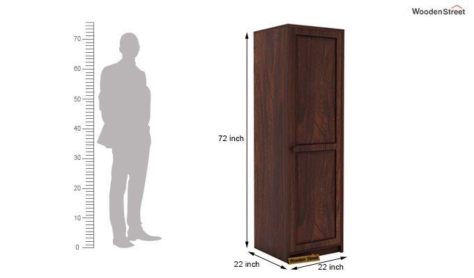 Citroen 1 Door Multi-Utility Wardrobe (Walnut Finish)-5