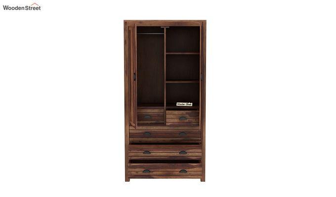 Felner 2 Door Multi Utility Wardrobe (Teak Finish)-5