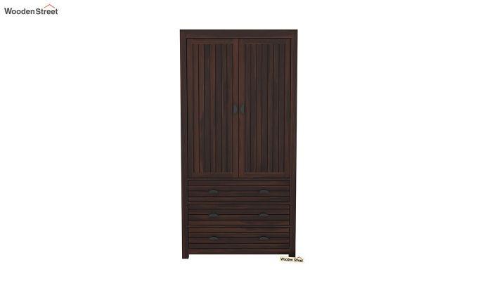 Felner 2 Door Multi Utility Wardrobe (Walnut Finish)-3