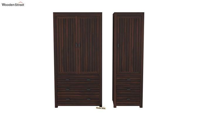 Felner 3 Door Multi Utility Wardrobe (Walnut Finish)-5