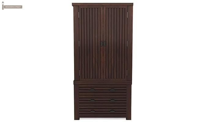 Felner Multi Utility Wardrobe (Walnut Finish)-2