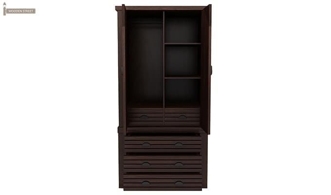 Felner Multi Utility Wardrobe (Walnut Finish)-4