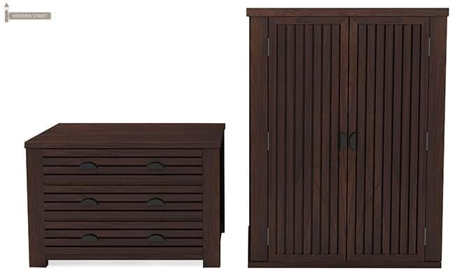 Felner Multi Utility Wardrobe (Walnut Finish)-5