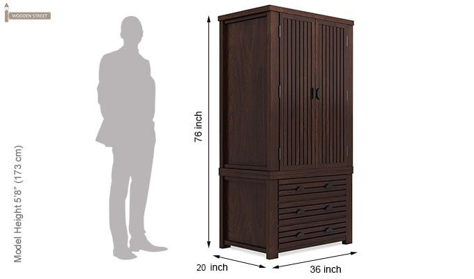 Felner Multi Utility Wardrobe (Walnut Finish)-6