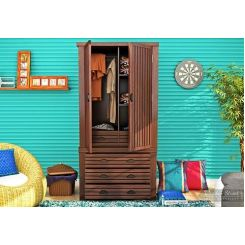 Felner Multi Utility Wardrobe (Walnut Finish)