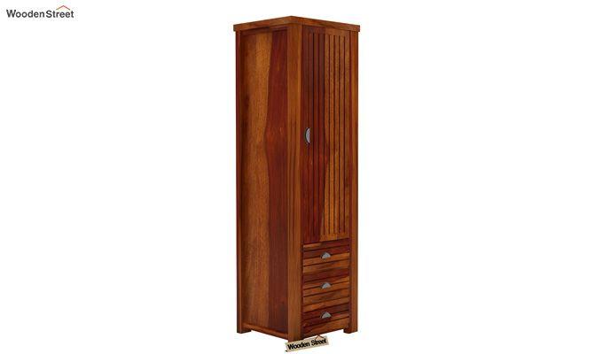 Felner 1 Door Multi Utility Wardrobe (Honey Finish)-1