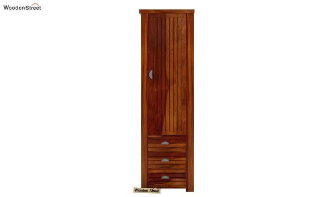 Felner 1 Door Multi Utility Wardrobe (Honey Finish)-2