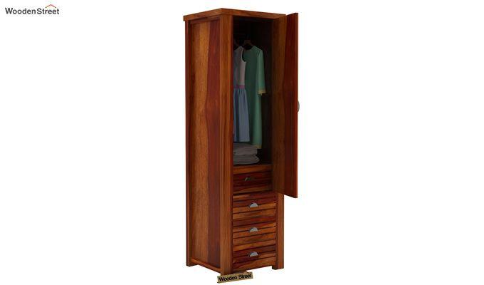 Felner 1 Door Multi Utility Wardrobe (Honey Finish)-3