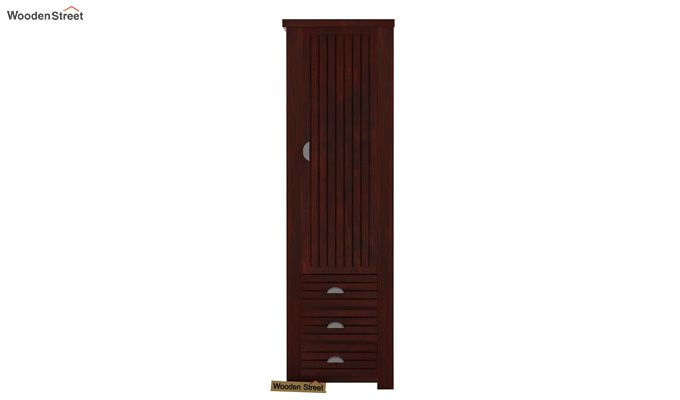 Felner 1 Door Multi Utility Wardrobe (Mahogany Finish)-2