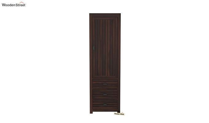 Felner 1 Door Multi Utility Wardrobe (Walnut Finish)-3