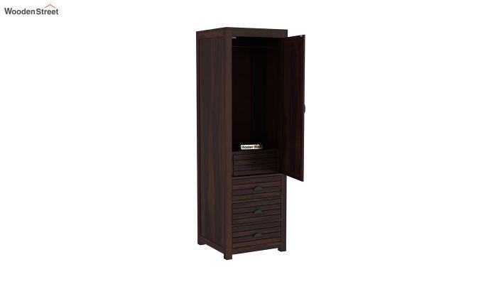 Felner 1 Door Multi Utility Wardrobe (Walnut Finish)-4