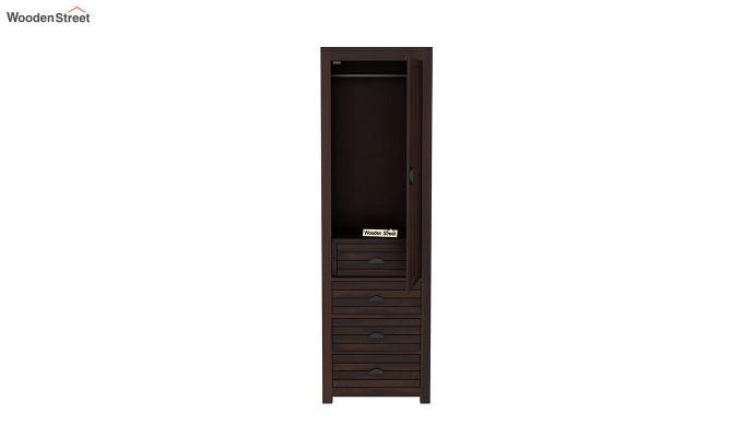 Felner 1 Door Multi Utility Wardrobe (Walnut Finish)-5