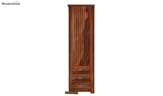 Felner 1 Door Multi Utility Wardrobe (Teak Finish)-2