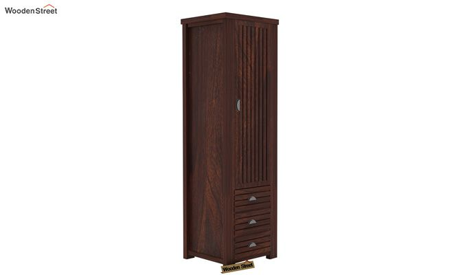Felner 1 Door Multi Utility Wardrobe (Walnut Finish)-2