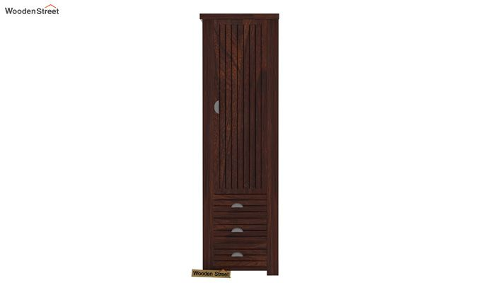 Felner 1 Door Multi Utility Wardrobe (Walnut Finish)-3