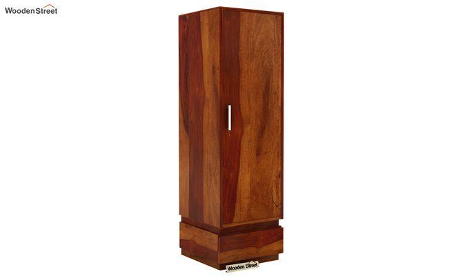 Florian 1 Door Multi Utility Wardrobe (Honey Finish)-1