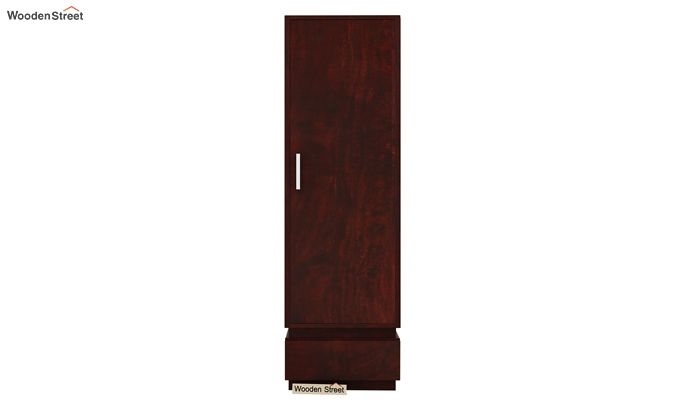 Florian 1 Door Multi Utility Wardrobe (Mahogany Finish)-3
