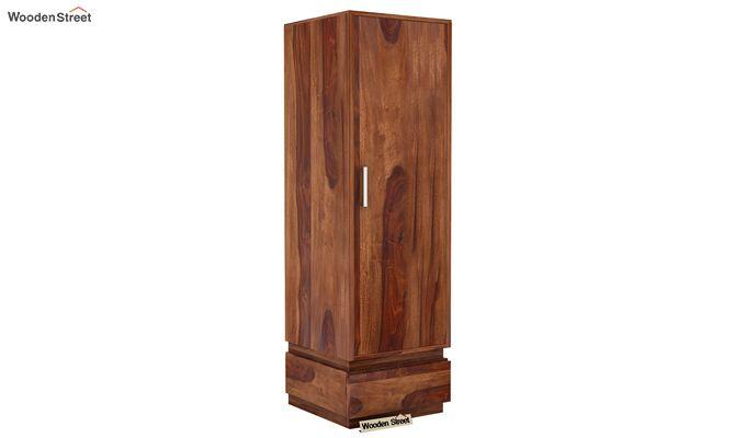 Florian 1 Door Multi Utility Wardrobe (Teak Finish)-1