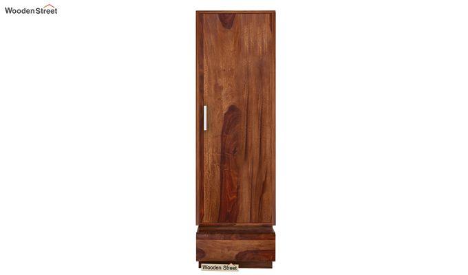 Florian 1 Door Multi Utility Wardrobe (Teak Finish)-2