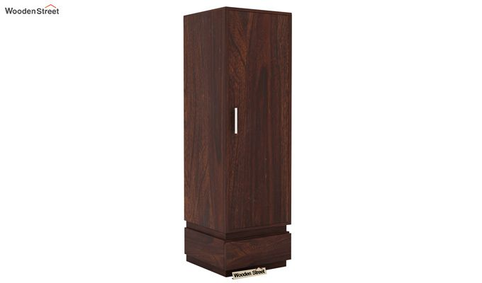 Florian 1 Door Multi Utility Wardrobe (Walnut Finish)-1