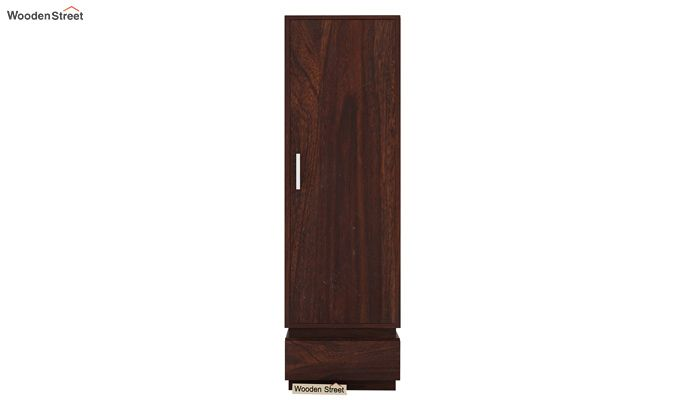 Florian 1 Door Multi Utility Wardrobe (Walnut Finish)-2