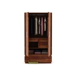 Florian Multi Utility Wardrobe (Teak Finish)