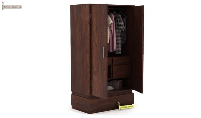 Florian Multi Utility Wardrobe (Walnut Finish)-2