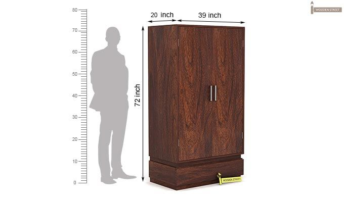 Florian Multi Utility Wardrobe (Walnut Finish)-6