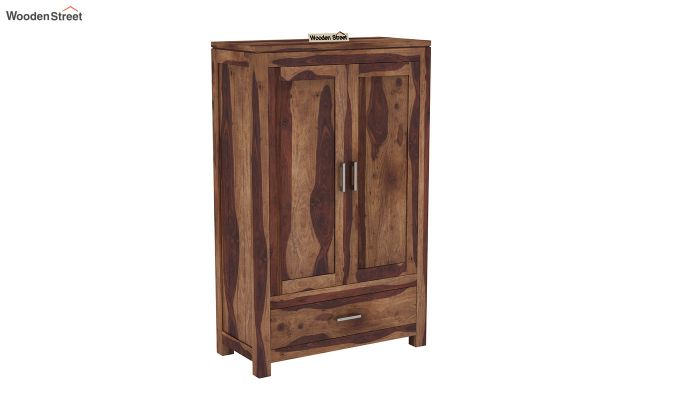 Heimo Small Size Wardrobe (Teak Finish)-2