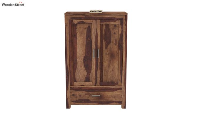 Heimo Small Size Wardrobe (Teak Finish)-3