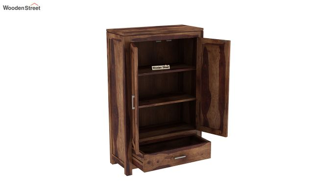 Heimo Small Size Wardrobe (Teak Finish)-4