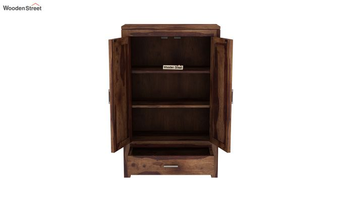 Heimo Small Size Wardrobe (Teak Finish)-5