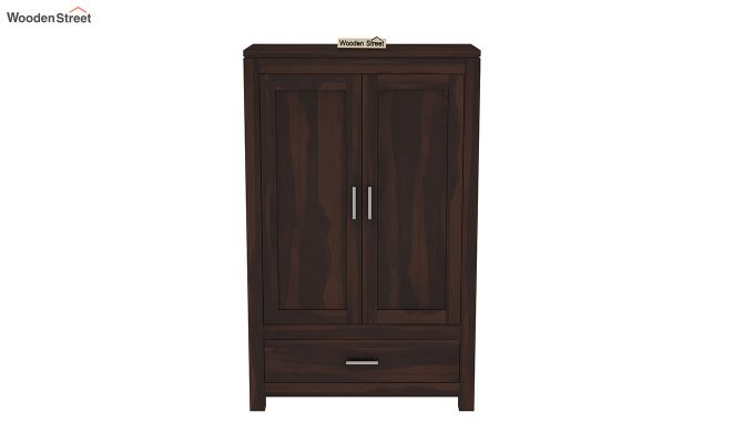 Heimo Small Size Wardrobe (Walnut Finish)-3