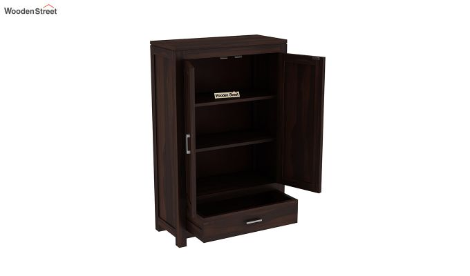 Heimo Small Size Wardrobe (Walnut Finish)-4