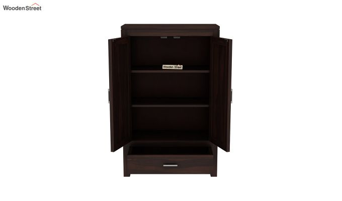 Heimo Small Size Wardrobe (Walnut Finish)-5