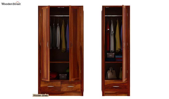 Holden Multi Utility Wardrobe (Honey Finish)-6