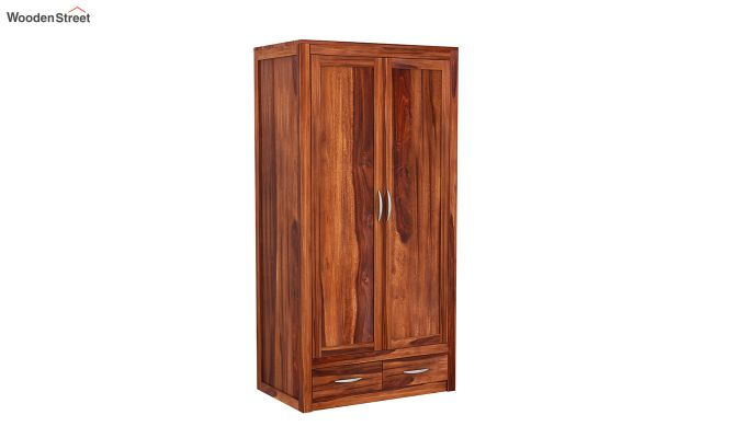 Holden Multi Utility Wardrobe (Honey Finish)-4