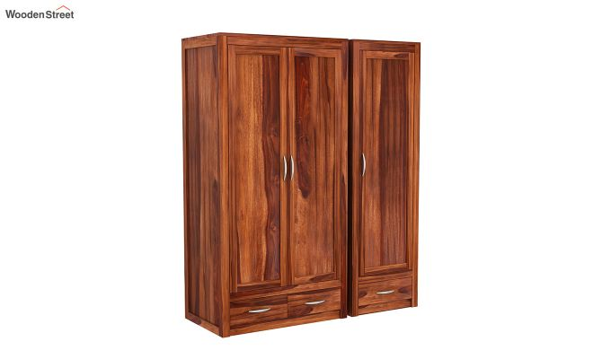 Holden Multi Utility Wardrobe (Honey Finish)-5