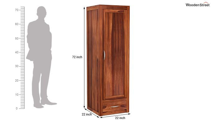 Holden Multi Utility Wardrobe (Honey Finish)-8