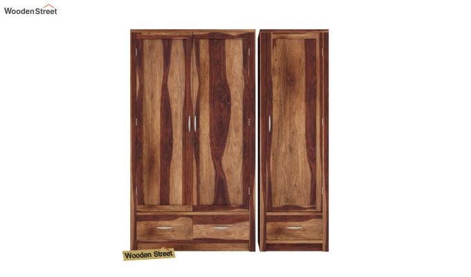 Holden Multi Utility Wardrobe (Teak Finish)-3