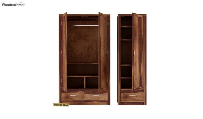 Holden Multi Utility Wardrobe (Teak Finish)-5