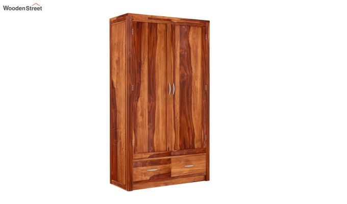 Holden 2 Door Multi Utility Wardrobe (Honey Finish)-2