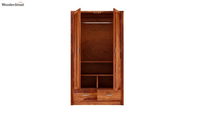 Holden 2 Door Multi Utility Wardrobe (Honey Finish)-4