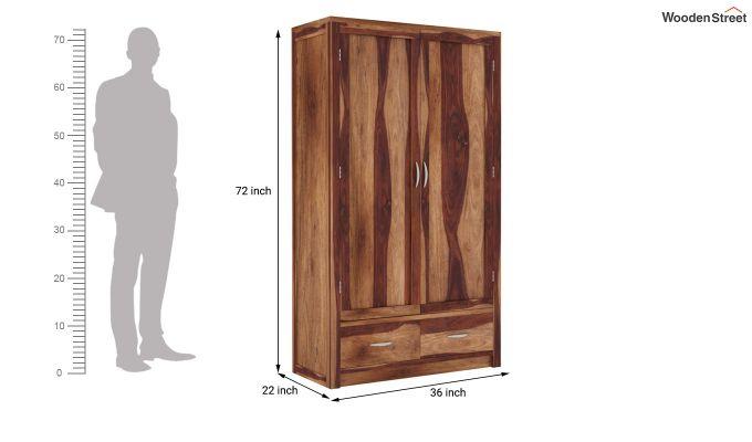 Holden 2 Door Multi Utility Wardrobe (Teak Finish)-5