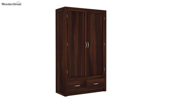 Holden 2 Door Multi Utility Wardrobe (Walnut Finish)-2