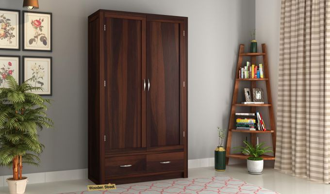 Holden 2 Door Multi Utility Wardrobe (Walnut Finish)-1
