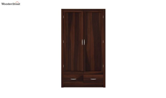Holden 2 Door Multi Utility Wardrobe (Walnut Finish)-3