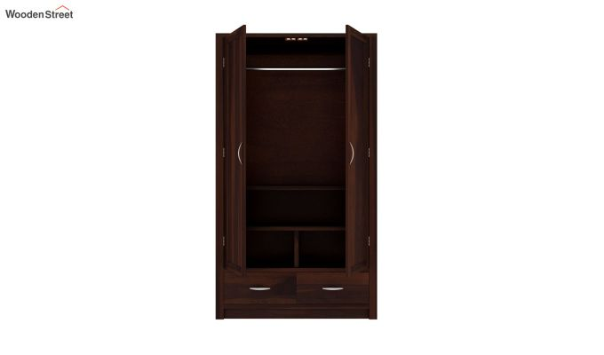 Holden 2 Door Multi Utility Wardrobe (Walnut Finish)-4